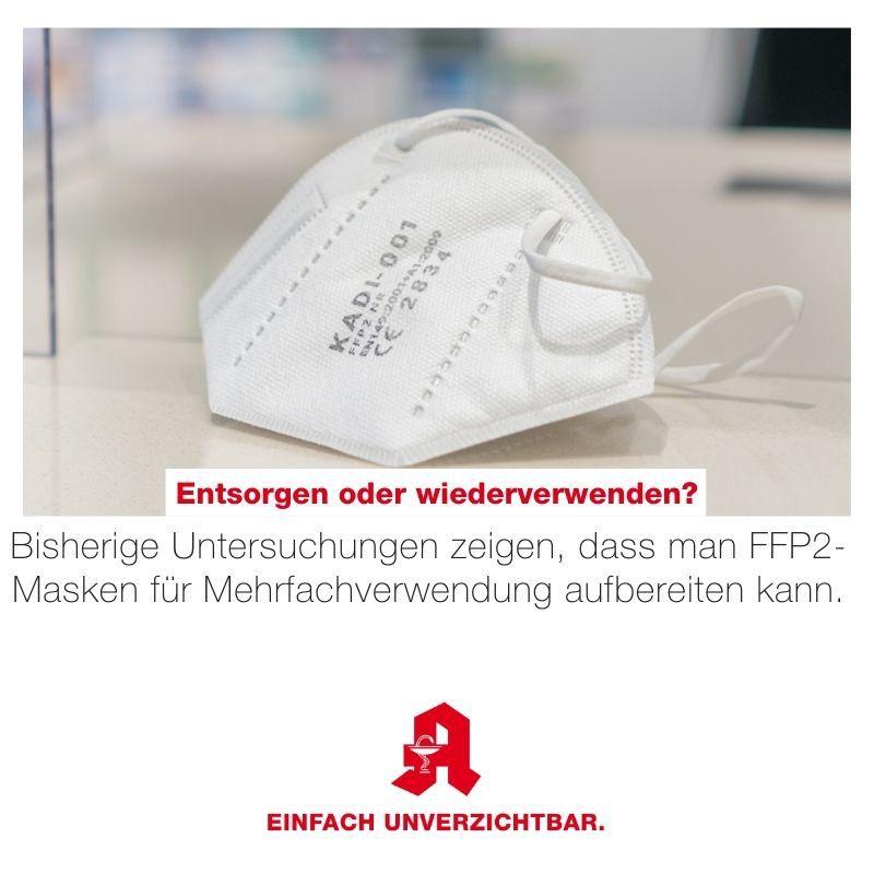 FFP2-Masken mehrfach verwenden