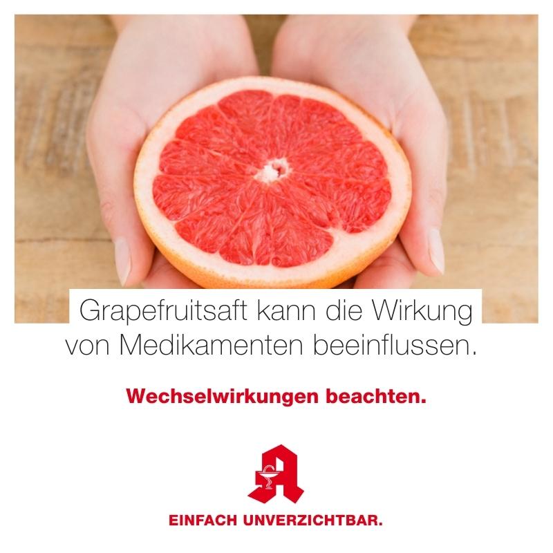Grapefruitsaft Wechselwirkungen